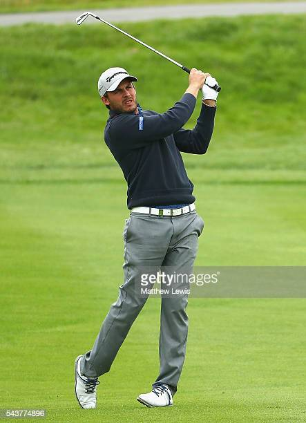 Chris Hanson of England plays a shot from the fairway during day one of the 100th Open de France at Le Golf National on June 30 2016 in Paris France