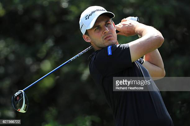 Chris Hanson of England tee's off at the 10th during the third round of the Alfred Dunhill Championships at Leopard Creek Country Golf Club on...