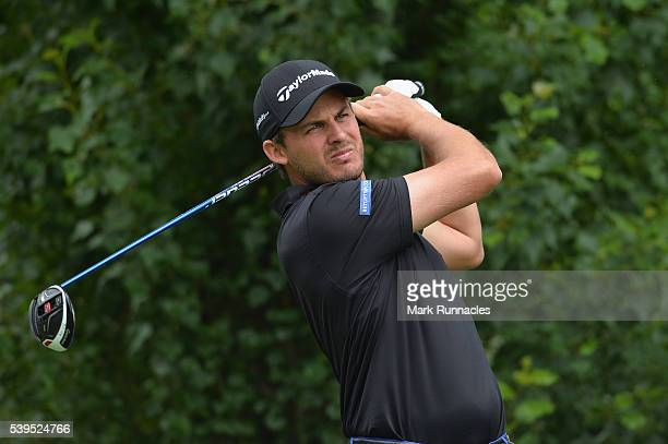 Chris Hanson of England tees off from the 4th during the final round of the Lyoness Open at Diamond Country Club on June 12 2016 in Atzenbrugg Austria