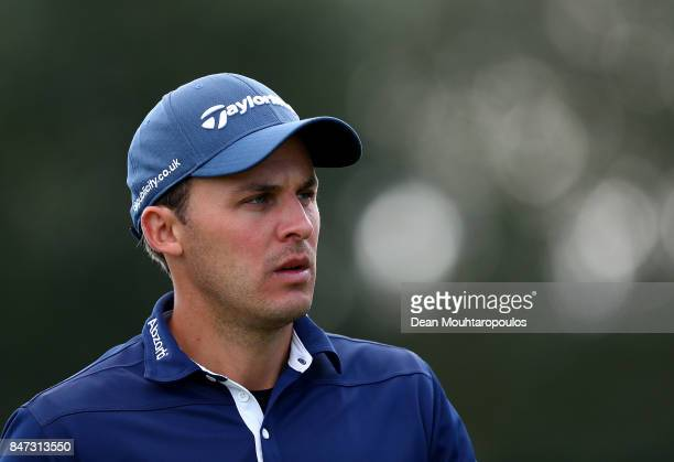 Chris Hanson of England walks up the 7th hole during day two of the KLM Open at The Dutch on September 15 2017 in Spijk Netherlands