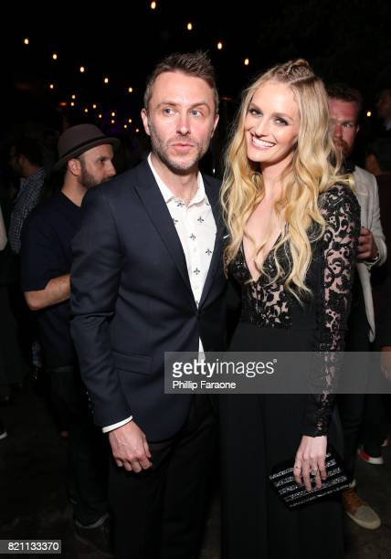 Chris Hardwick and Lydia Hearst at Entertainment Weekly's annual ComicCon party in celebration of ComicCon 2017 at Float at Hard Rock Hotel San Diego...