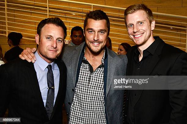 Chris Harrison Chris Soules and Sean Lowe attend WE Tv Presents The Evolution of Relationship Reality Shows at The Paley Center For Media on March 19...