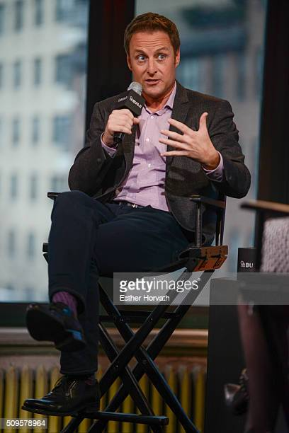 Chris Harrison discusses at AOL Studios In New York on February 11 2016 in New York City