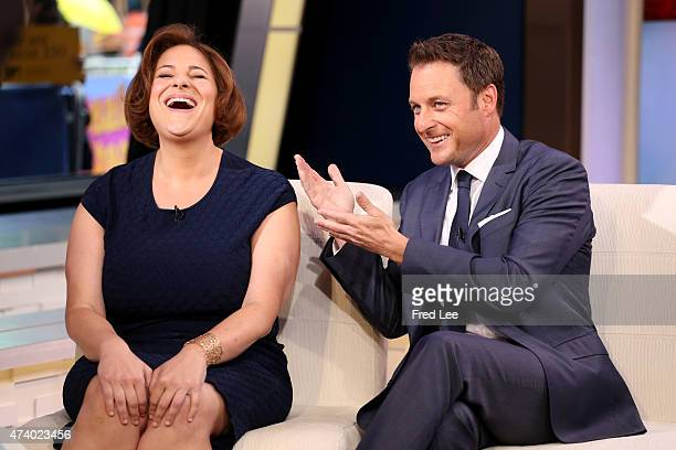 AMERICA Chris Harrison of ABC's 'The Bachelorette' and writer Jennifer Weiner is a guest on 'Good Morning America' 5/19/15 airing on the ABC...