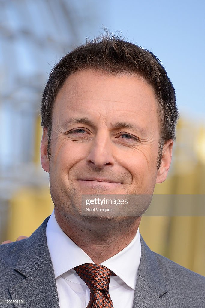 <a gi-track='captionPersonalityLinkClicked' href=/galleries/search?phrase=Chris+Harrison&family=editorial&specificpeople=583468 ng-click='$event.stopPropagation()'>Chris Harrison</a> visits 'Extra' at Universal Studios Hollywood on February 19, 2014 in Universal City, California.