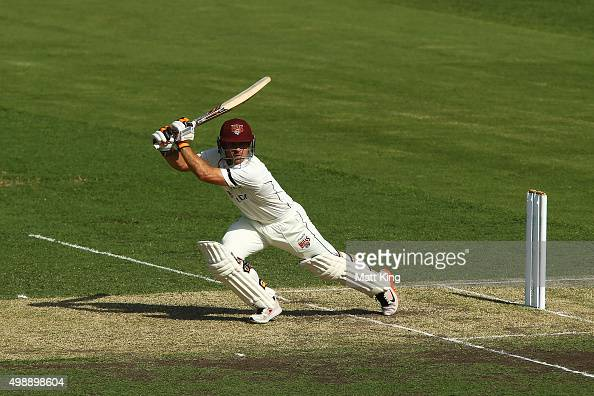 Chris Hartley of the Bulls bats during day one of the Sheffield Shield match between New South Wales and Queensland at Sydney Cricket Ground on...