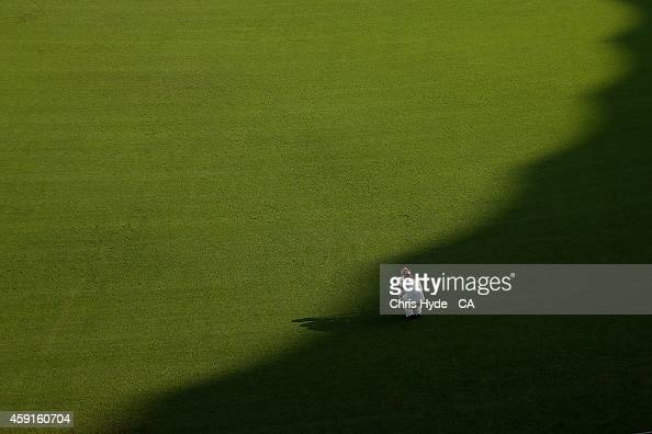 Chris Hartley of the Bulls takes to the field during day three of the Sheffield Shield match between Queensland Bulls and New South Wales Blues at...