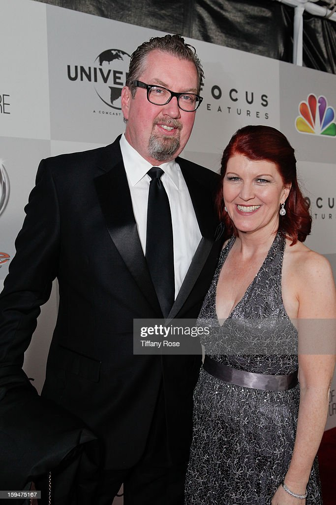 Chris Haston, Actress Kate Flannery attend the NBC/Universal/Focus Features/E! Networks Golden Globe Awards Celebration Designed And Produced By Angel City Designs at The Beverly Hilton Hotel on January 13, 2013 in Beverly Hills, California.