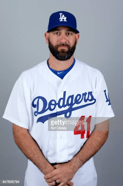 Chris Hatcher of the Los Angeles Dodgers poses during Photo Day on Friday February 24 2017 at Camelback Ranch in Glendale Arizona