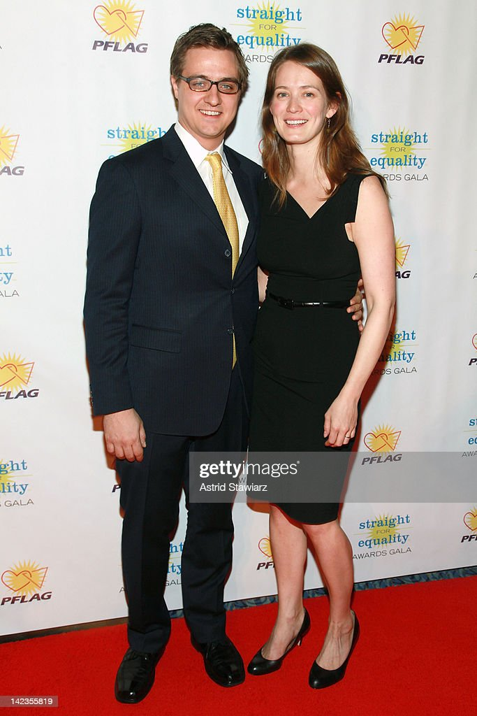 Chris Hayes and wife Kate Hayes attend PFLAG National's 2012 Straight for Equality Awards gala at the Marriott Marquis Times Square on April 2, 2012 in New York City.