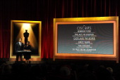 Chris Hemsworth and Academy President Cheryl Boone Isaacs announce the nominees for Best Documentary Feature at the 86th Academy Awards Nominations...
