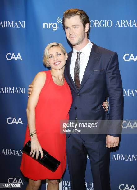 Chris Hemsworth and Elsa Pataky arrive at the 3rd Annual Sean Penn Friends Help Haiti Home Gala benefiting J/P HRO presented By Giorgio Armani held...