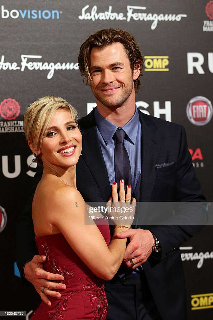 Chris Hemsworth and Elsa Pataky attend 'Rush' The Movie Rome Premiere at Auditorium della Conciliazione on September 14, 2013 in Rome, Italy.