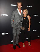 Chris Hemsworth and his wife Elsa Pataky attend the Foxtel season launch at Sydney Theatre on October 30 2014 in Sydney Australia