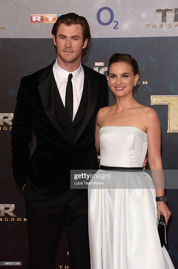 Chris Hemsworth and Natalie Portman arrive for