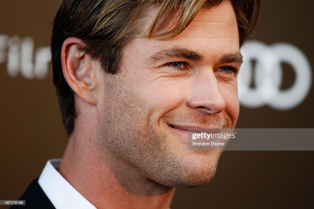 <a gi-track='captionPersonalityLinkClicked' href=/galleries/search?phrase=Chris+Hemsworth&family=editorial&specificpeople=646776 ng-click='$event.stopPropagation()'>Chris Hemsworth</a> arrives ahead of the Audi Film Gala's exclusive charity screening of 'In The Heart of The Sea' at Hoyts Entertainment Quarter on November 17, 2015 in Sydney, Australia.