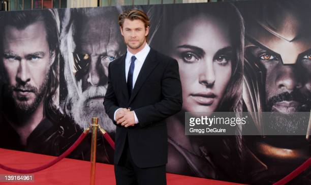 Chris Hemsworth arrives at the Los Angeles Premiere of 'Thor' at the El Capitan Theater on May 2 2011 in Hollywood California