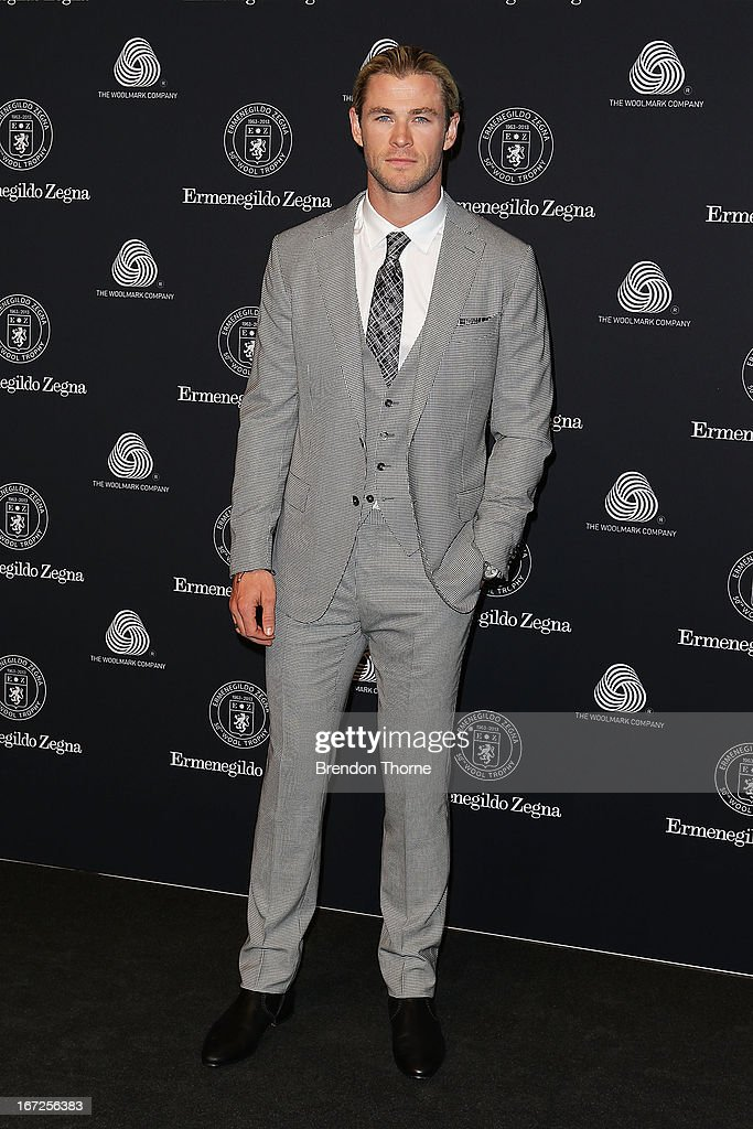 <a gi-track='captionPersonalityLinkClicked' href=/galleries/search?phrase=Chris+Hemsworth&family=editorial&specificpeople=646776 ng-click='$event.stopPropagation()'>Chris Hemsworth</a> arrives for the 50th Anniversary Wool Awards at the Royal Hall of Industries, Moore Park on April 23, 2013 in Sydney, Australia.