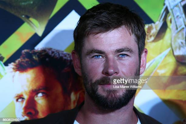 Chris Hemsworth arrives for the Australian Premiere of Thor Ragnarok on October 13 2017 in Gold Coast Australia