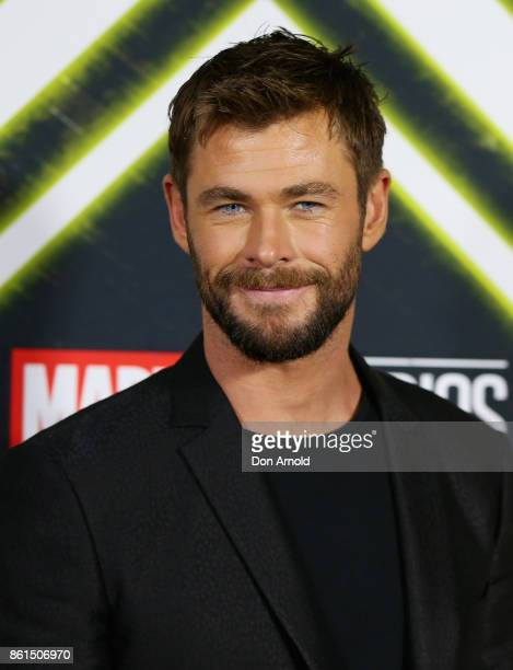 Chris Hemsworth arrives for the premiere screening of Thor Ragnarok Sydney at Fox Studios on October 15 2017 in Sydney Australia