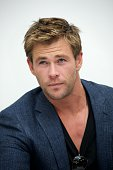 Chris Hemsworth at the 'Avengers Age of Ultron' Press Conference at Walt Disney Studios on April 11 2015 in Burbank California
