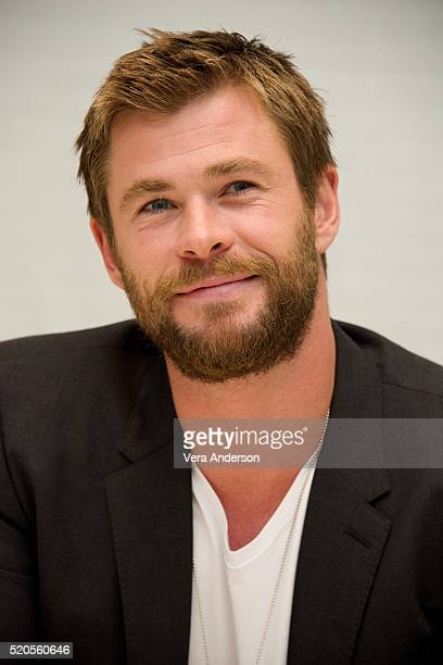 Chris Hemsworth at 'The Huntsman Winter's War' Press Conference at the Four Seasons Hotel on April 11 2016 in Beverly Hills California