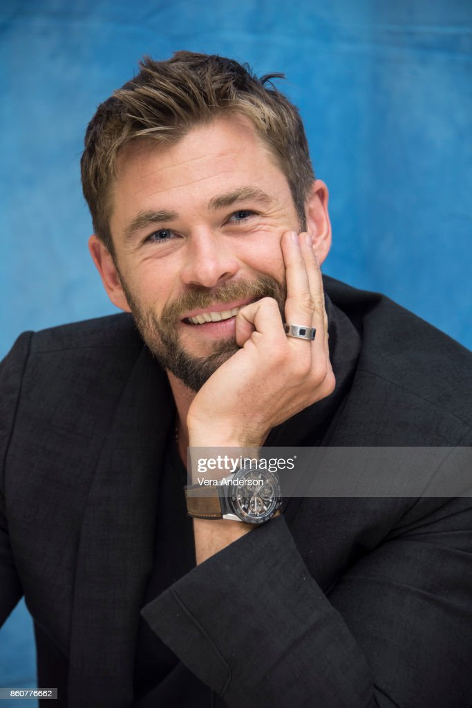 Chris Hemsworth at the 'Thor: Ragnarok' Press Conference at the Montage Hotel on October 11, 2017 in Beverly Hills, California.