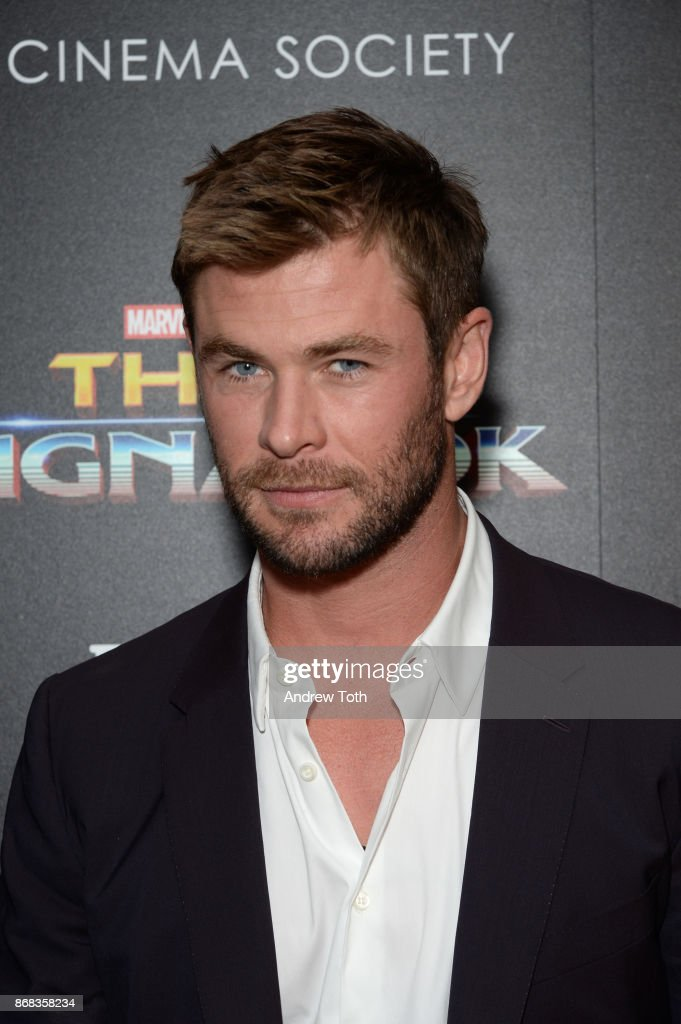 Chris Hemsworth attends a screening of Marvel Studios' 'Thor: Ragnarok' at the Whitby Hotel on October 30, 2017 in New York City.