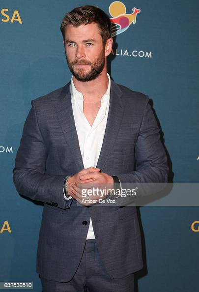Chris Hemsworth attends a Virtual Tour of Australia at Hudson Mercantile on January 23 2017 in New York City