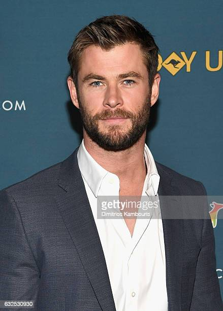 Chris Hemsworth attends a Virtual Tour of Australia in NYC at Hudson Mercantile on January 23 2017 in New York City
