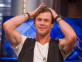 Chris Hemsworth attends 'El Hormiguero' TV Show on December 3 2015 in Madrid Spain