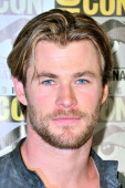 Chris Hemsworth attends Marvel's 'AntMan' press line during ComicCon International 2014 at San Diego Convention Center on July 26 2014 in San Diego...