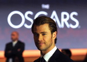 Chris Hemsworth attends the 86th Academy Awards Nominations Announcement at the AMPAS Samuel Goldwyn Theater on January 16 2014 in Beverly Hills...