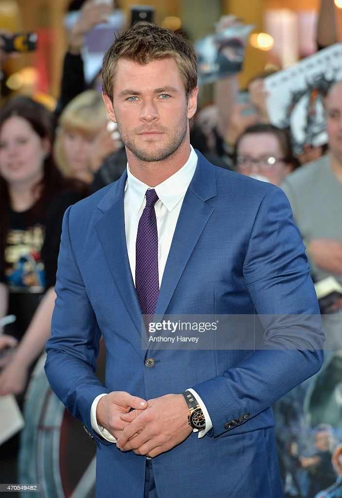 Chris Hemsworth attends 'The Avengers Age Of Ultron' European premiere at Westfield London on April 21 2015 in London England