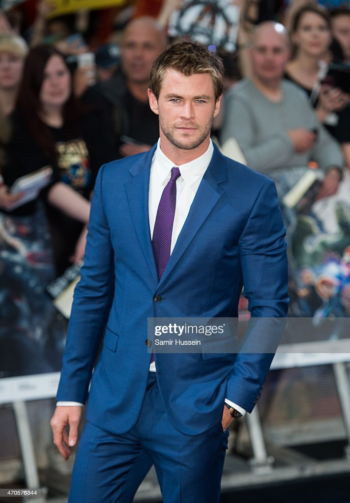 <a gi-track='captionPersonalityLinkClicked' href=/galleries/search?phrase=Chris+Hemsworth&family=editorial&specificpeople=646776 ng-click='$event.stopPropagation()'>Chris Hemsworth</a> attends the European premiere of 'The Avengers: Age Of Ultron' at Westfield London on April 21, 2015 in London, England.