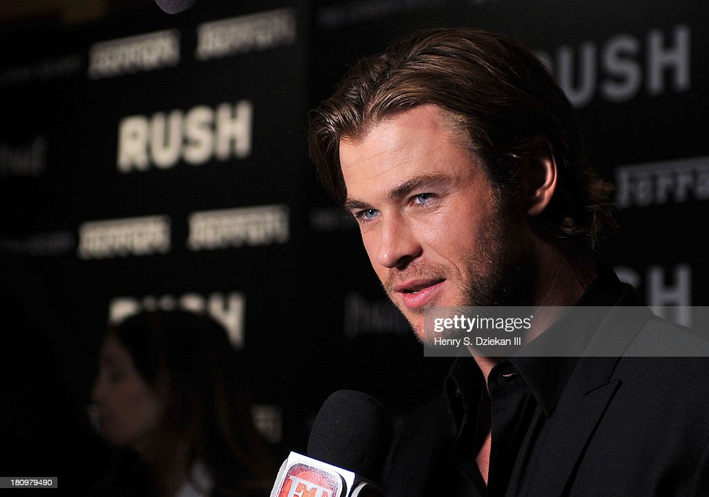 <a gi-track='captionPersonalityLinkClicked' href=/galleries/search?phrase=Chris+Hemsworth&family=editorial&specificpeople=646776 ng-click='$event.stopPropagation()'>Chris Hemsworth</a> attends the Ferrari & The Cinema Society screening of 'Rush' at Chelsea Clearview Cinema on September 18, 2013 in New York City.