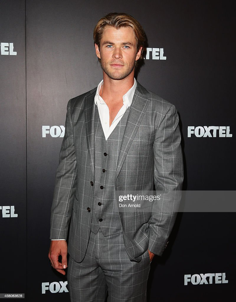<a gi-track='captionPersonalityLinkClicked' href=/galleries/search?phrase=Chris+Hemsworth&family=editorial&specificpeople=646776 ng-click='$event.stopPropagation()'>Chris Hemsworth</a> attends the Foxtel season launch at Sydney Theatre on October 30, 2014 in Sydney, Australia.