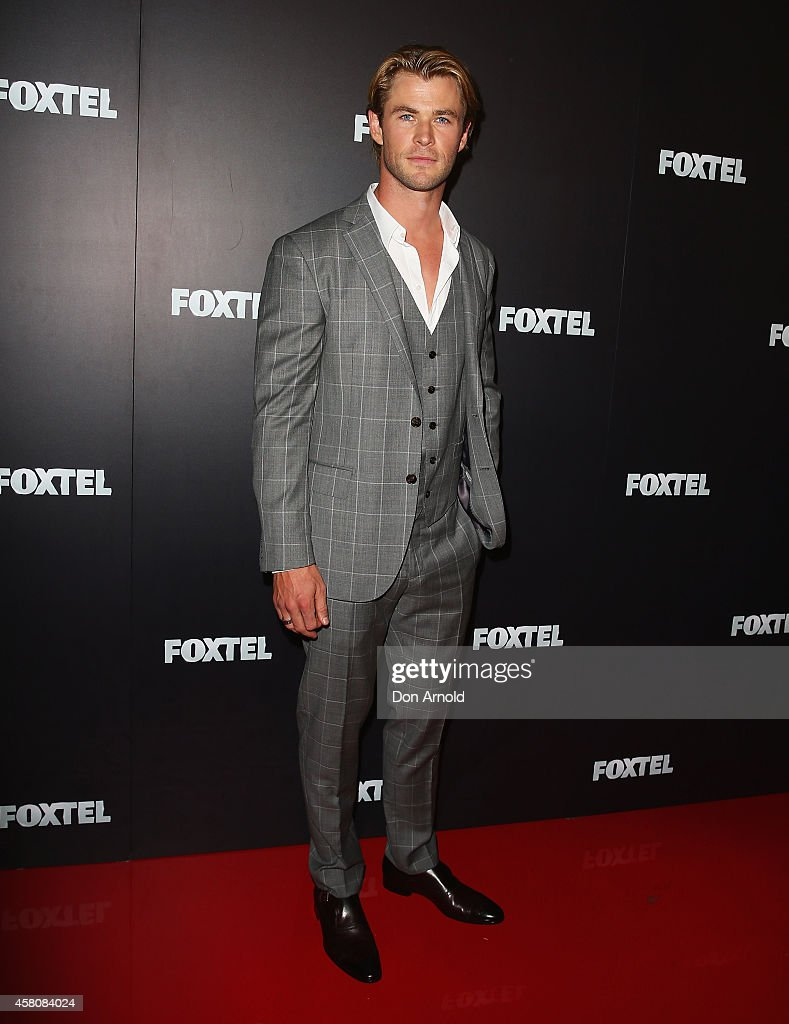 Chris Hemsworth attends the Foxtel season launch at Sydney Theatre on October 30 2014 in Sydney Australia