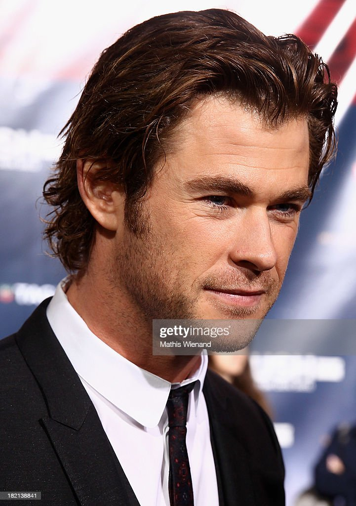 <a gi-track='captionPersonalityLinkClicked' href=/galleries/search?phrase=Chris+Hemsworth&family=editorial&specificpeople=646776 ng-click='$event.stopPropagation()'>Chris Hemsworth</a> attends the German premiere of the film 'Rush' at Cinedom on September 28, 2013 in Cologne, Germany.