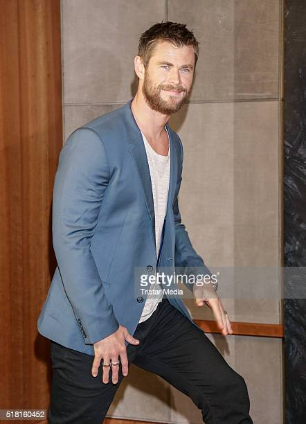 Chris Hemsworth attends 'The Huntsman The Ice Queen' Photo Call on March 30 2016 in Hamburg Germany