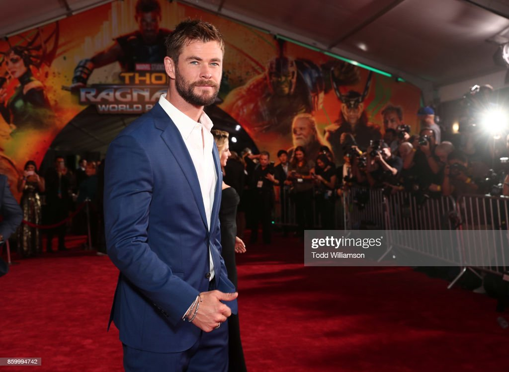 Chris Hemsworth attends the premiere of Disney And Marvel's 'Thor: Ragnarok' on October 10, 2017 in Los Angeles, California.