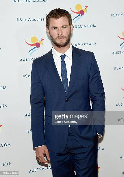 Chris Hemsworth attends the 'There's Nothing Like Australia' Campaign Launch at Celsius at Bryant Park on January 25 2016 in New York City