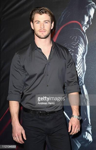 Chris Hemsworth attends the THOR Munich photocall at Hotel Bayerischer Hof on April 13 2011 in Munich Germany