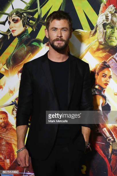 Chris Hemsworth attends the Thor Ragnarok Sydney Screening Event on October 15 2017 in Sydney Australia