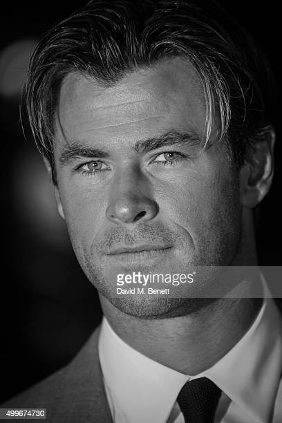 Chris Hemsworth attends the UK Premiere of 'In The Heart Of The Sea' at Empire Leicester Square on December 2 2015 in London England