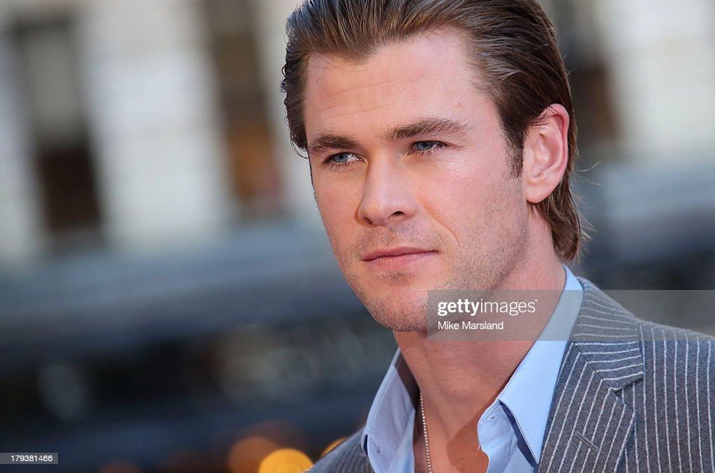 <a gi-track='captionPersonalityLinkClicked' href=/galleries/search?phrase=Chris+Hemsworth&family=editorial&specificpeople=646776 ng-click='$event.stopPropagation()'>Chris Hemsworth</a> attends the World Premiere of 'Rush' at Odeon Leicester Square on September 2, 2013 in London, England.