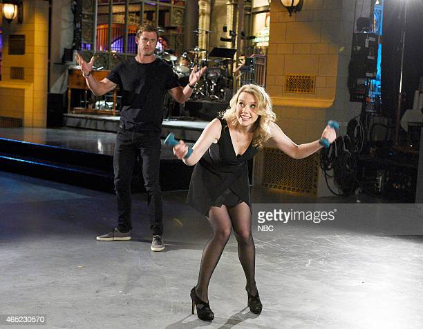 LIVE 'Chris Hemsworth' Episode 1677 Pictured Chris Hemsworth and Kate McKinnon on March 3 2015
