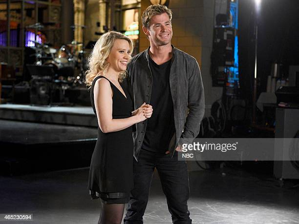 LIVE 'Chris Hemsworth' Episode 1677 Pictured Kate McKinnon and Chris Hemsworth on March 3 2015