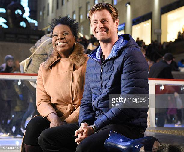 LIVE 'Chris Hemsworth' Episode 1691 Pictured Leslie Jones and Chris Hemsworth on December 8 2015
