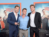 Chris Hemsworth Luke Hemsworth and Liam Hemsworth attend the premiere of 'Vacation' at Regency Village Theatre on July 27 2015 in Westwood California